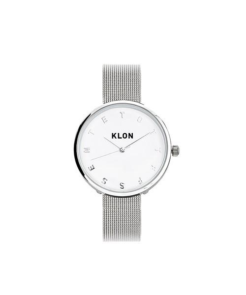 代引き人気 KLON -SILVER ALPHABET TIME -SILVER ALPHABET MESH- Ver.SILVER MESH- 33mm(腕時計) KLON(クローン)のファッション通販, 大田村:0e04209f --- talkonomy.com