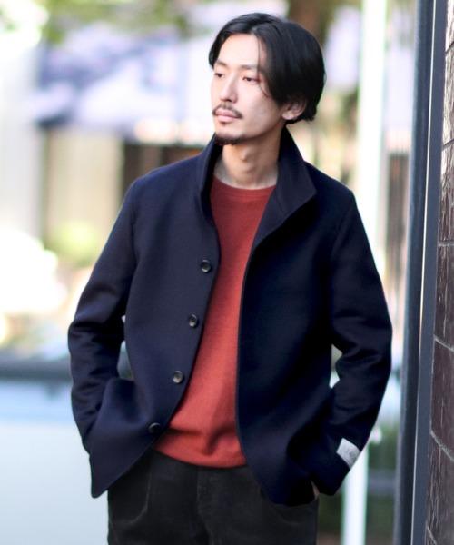 JOURNAL STANDARD(ジャーナルスタンダード)の「【140S Fine Merino Wool】スタンドショートコート#(チェスターコート)」|ネイビー