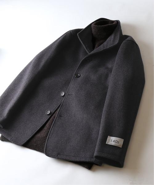 JOURNAL STANDARD(ジャーナルスタンダード)の「【140S Fine Merino Wool】スタンドショートコート#(チェスターコート)」|チャコールグレー