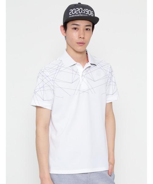 New Balance Golf(ニューバランスゴルフ)の「【new balance golf】レーザープリント 半袖ポロシャツ (MENS SPORT)(ポロシャツ)」|ホワイト