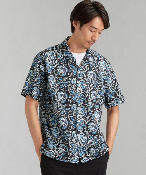 [ コルポ イパネマ ] SC corpo バティック プリント オープンカラー シャツ