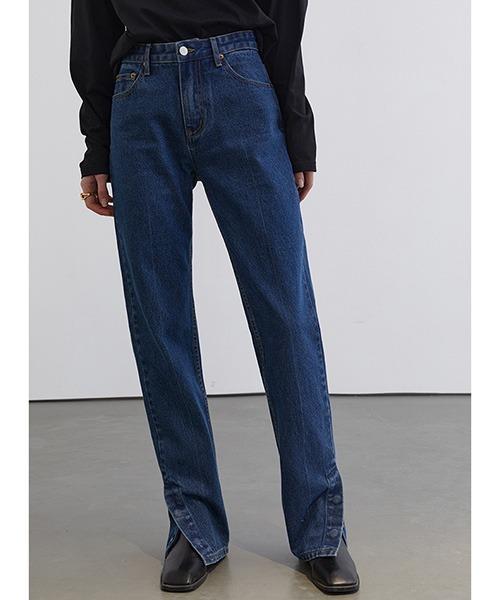 【Fano Studios】【2021SS】 Side slit straight denim pants FC21K019