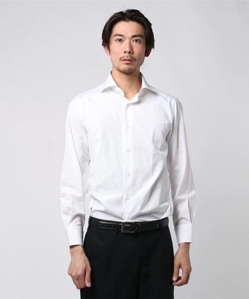 SD: トーマスメイソン ストライプ ワイドカラー シャツ
