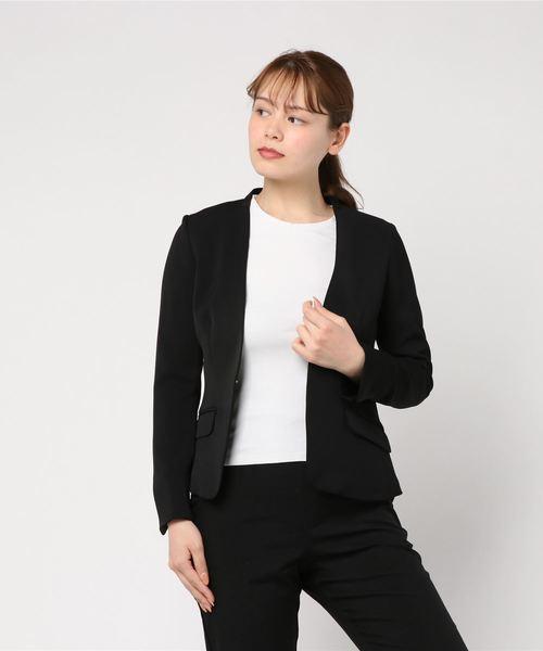 高質 【セール】サテンジョーゼットノーカラージャケット(テーラードジャケット)|Perfect Suit Suit FActory(パーフェクトスーツファクトリー)のファッション通販, yamaguchiきらら特産品:51f5b928 --- fahrservice-fischer.de