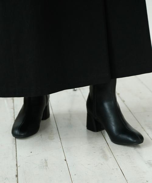 niko and...(ニコアンド)の「オリジナルブロックヒールブーツ(ブーツ)」 ブラック