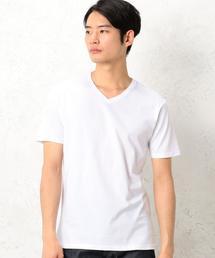 KC ◎GIZA Vネック S/S Tシャツ ◆