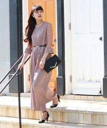 TRUDEA(トルディア)の袖レース ワイドパンツドレス(ドレス)