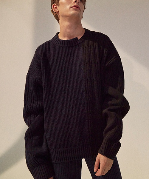 【ORDINARY PEOPLE】カラー テクスチャー セーター