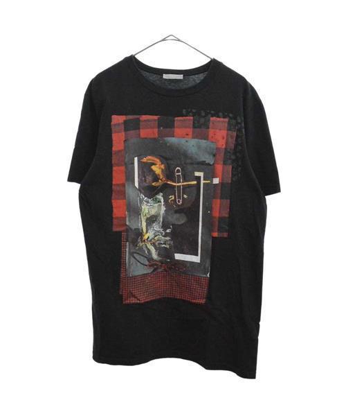 魅力的な価格 チェックデザインフロントフォトプリント半袖Tシャツ カットソー, ニシイズチョウ 75fc8980