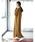 CRAFT STANDARD BOUTIQUE(クラフトスタンダードブティック)の「MAXI KNIT ONE-PIECE/クルーネックニットワンピース〇*(ワンピース)」|キャメル
