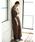 CRAFT STANDARD BOUTIQUE(クラフトスタンダードブティック)の「MAXI KNIT ONE-PIECE/クルーネックニットワンピース〇*(ワンピース)」|ブラウン
