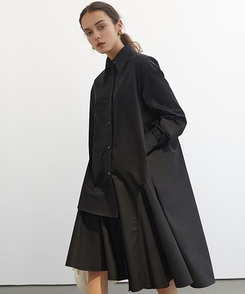 【Fano Studios】【2021SS 先行予約】Asymmetry Shirt dress FC21L001