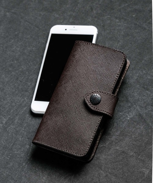2fef54429a SABLE CLUTCH(セーブルクラッチ)のGRID EMBOSS iPhone FLIP CASE - 栃木レザー(
