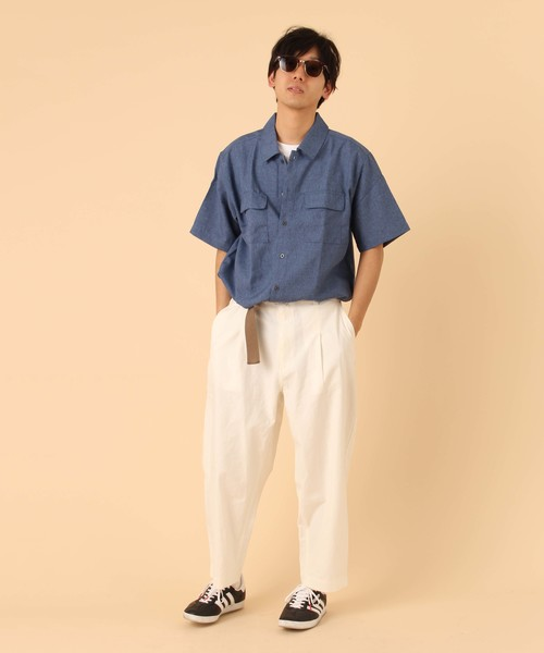 【BURNER SELECT】ポリトロワークポケットシャツ半袖