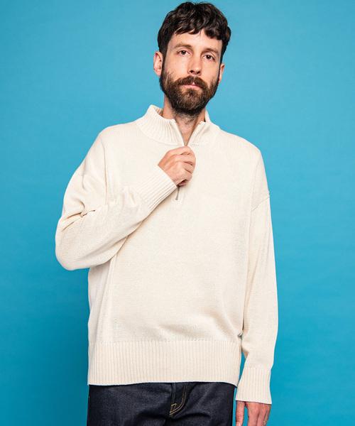 お手頃価格 リリーヤーン ハイネック コットン ニット/ ハーフジップ/ コットン ハイネック セーター(ニット/セーター)|MR.OLIVE(ミスターオリーブ)のファッション通販, 三芳村:fef1f2cc --- 5613dcaibao.eu.org