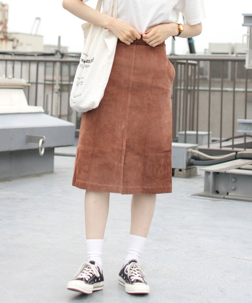 THE SHINZONE / シンゾーン SUEDE SKIRT スエードスカート