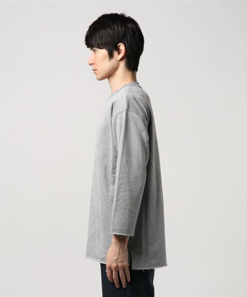 Revo. スウェードタッチ 裏毛 8分袖 Tシャツ[2019SS]