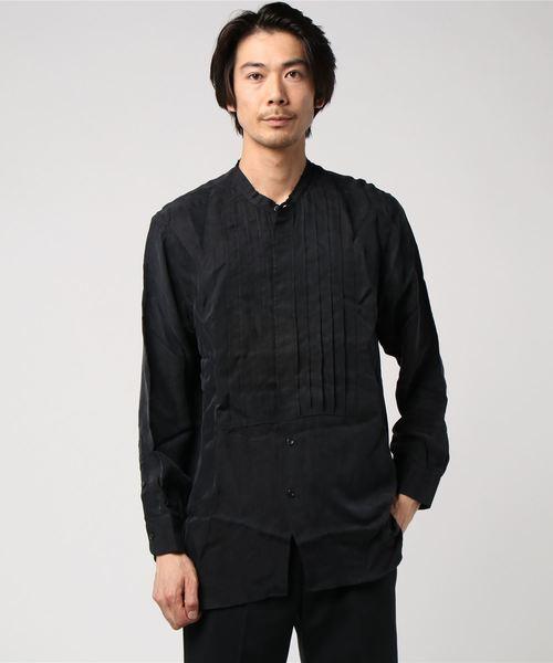 ONEGRAVITY / プリーテッドブザムシャツ ブラック/MEDIUM(エストネーション)◆メンズ シャツ/ブラウス