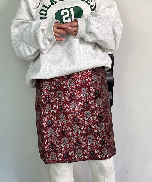 【SANSeLF】Jacquard skirt sanw52
