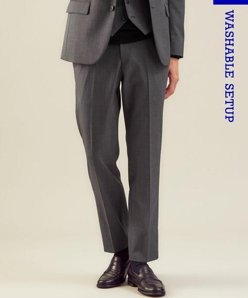 WTO TWPU サージ千鳥マジコンスリムNP スーツパンツ -ウォッシャブル・防シワ・ストレッチ-