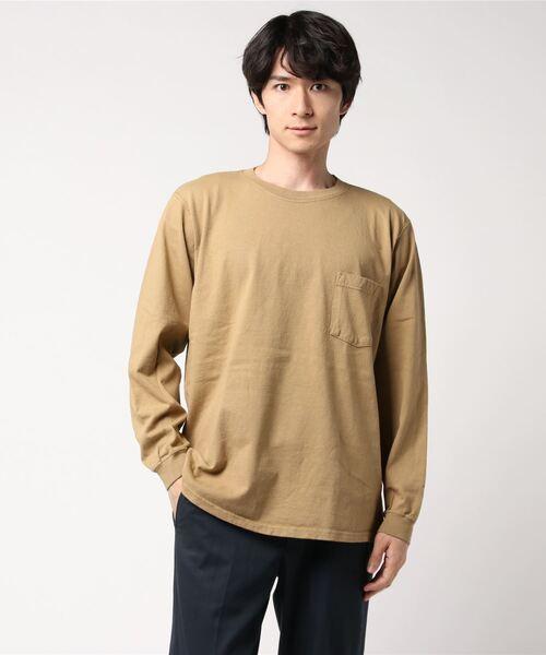 Goodwear(グッドウェア)の「GOODWEAR / グッドウェア ロングスリーブポケットTEE / ロンT(Tシャツ/カットソー)」 ライトブラウン