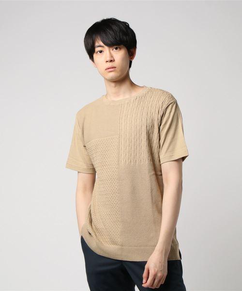 コンビ ジャカードニット Tシャツ