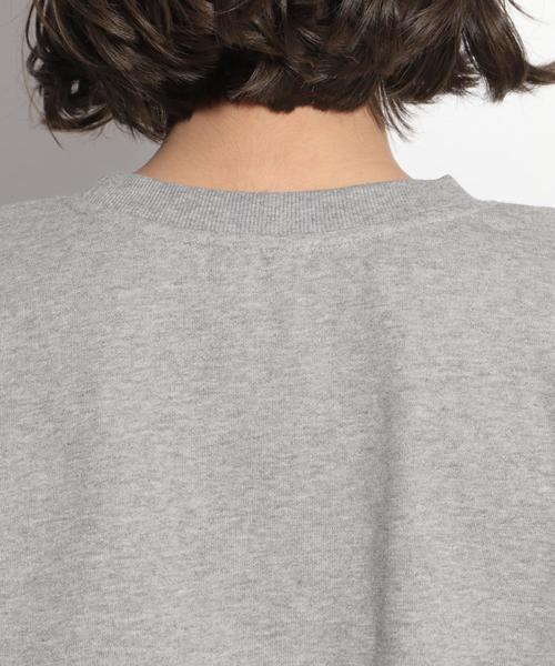 バルーン袖裏毛長袖プルオーバー