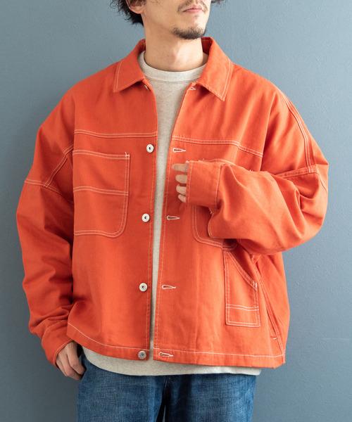 WACHO ビッグシルエット コットンツイル ペインターカバーオールジャケット