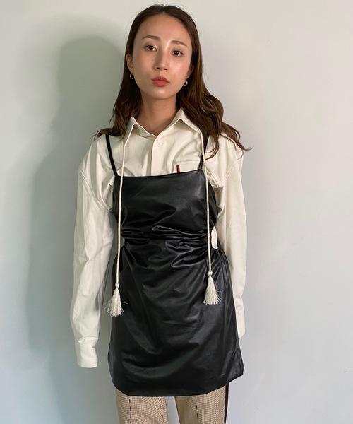 【SANSeLF】eco leather tunic sanw53