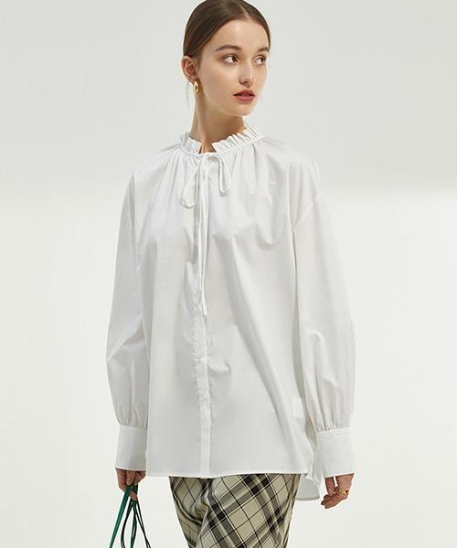 【Fano Studios】【2021SS】Ruffled collar ribbon blouse FC21S109