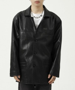【WB ORIGINALS】【2021AW】PU Leather Coverall Jacket WO21W2HOT02