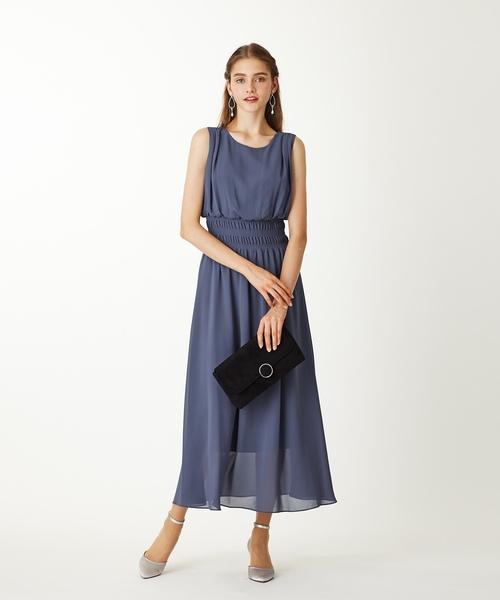 8f98d99baf60f AIMER(エメ)の「ジョーゼットシャーリングリゾートワンピースドレス(ドレス)」