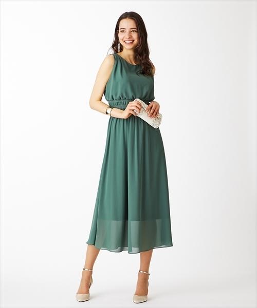 51f09a9fde0e9 AIMER(エメ)の「ジョーゼットシャーリングリゾートワンピースドレス(ドレス)」