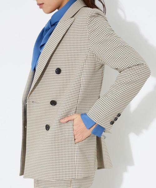 【STUDIOUS】ベルト付きサイドベンツチェックジャケット