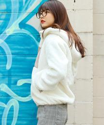 Fashion Letter(ファッションレター)の中綿 ボアブルゾン ジャケット レディース(ブルゾン)