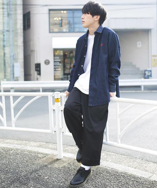 WEB限定 KANGOL×FREAK'S STORE/カンゴール 別注ビッグシルエット デニムシャツ