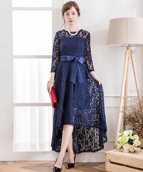 15c92f658d835 DRESS STAR(ドレス スター)のフィッシュテール総レースワンピースドレス(ドレス)