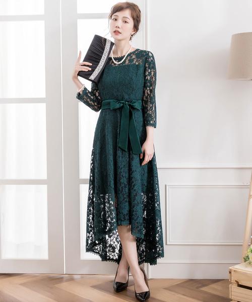 cb09798b79c49 DRESS STAR(ドレス スター)のフィッシュテール総レースワンピースドレス(ドレス)