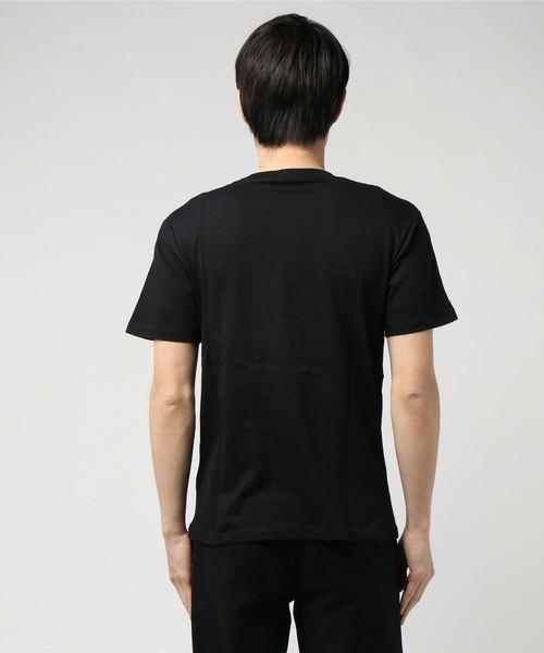 迷彩柄ボックスロゴプリントクルーネック半袖Tシャツカットソー