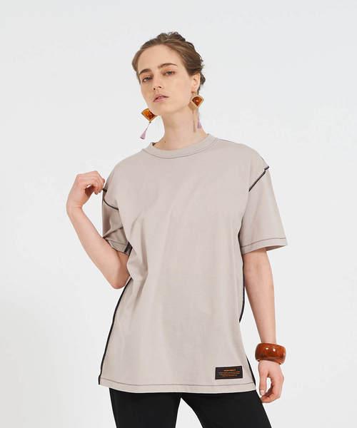 THEATRE PRODUCTS(シアタープロダクツ)の「ベーシック天竺 Tシャツ(Tシャツ/カットソー)」|ベージュ