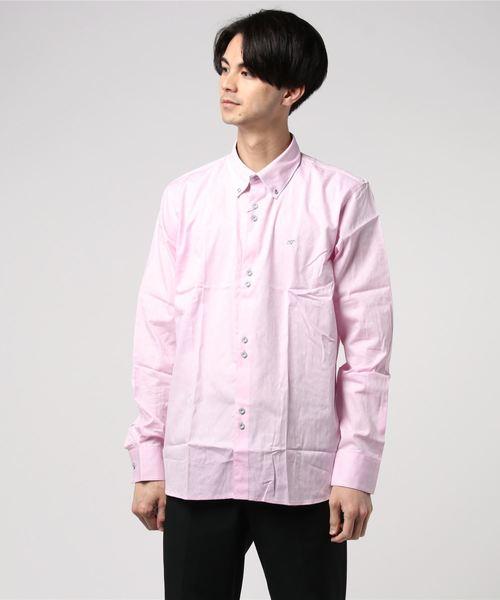 Gabicci(ガビッチ)の「Maddox ジオメトリックプリントシャツ(シャツ/ブラウス)」|ピンク