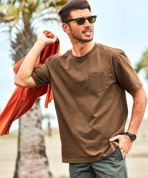 9.17oz USAコットン ヘビーウェイト オーバーサイズ ポケット半袖 Tシャツ