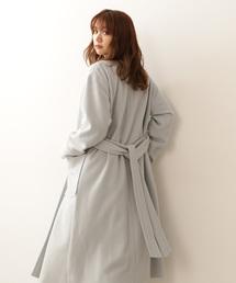 PROPORTION BODY DRESSING(プロポーションボディドレッシング)の【CanCam掲載】ノーカラーVネックガウンコート(ステンカラーコート)