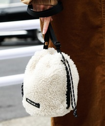 niko and...(ニコアンド)のオリジナルモコモコ巾着ショルダーバッグ(ショルダーバッグ)