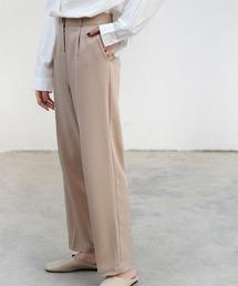 【chuclla】【2021/SSリネン素材追加】Semi wide color slacks sb-1 sb-4 chw869ベージュ