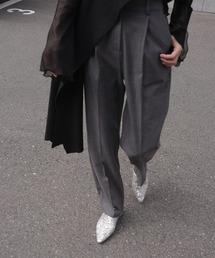 【chuclla】【2021/SSリネン素材追加】Semi wide color slacks sb-1 sb-4 chw869グレー系その他