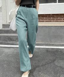 【chuclla】【2021/SSリネン素材追加】Semi wide color slacks sb-1 sb-4 chw869グリーン系その他