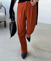 【chuclla】【2021/SSリネン素材追加】Semi wide color slacks sb-1 sb-4 chw869オレンジ系その他