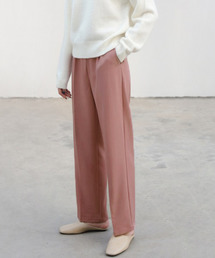 【chuclla】【2021/SSリネン素材追加】Semi wide color slacks sb-1 sb-4 chw869スモークピンク