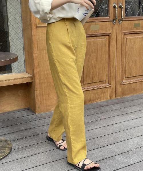 【chuclla】Semi wide color slacks sb-1 sb-4 chw869